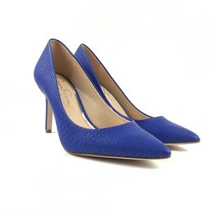 Jessica Simpson Brilliant Blue Levin Heels